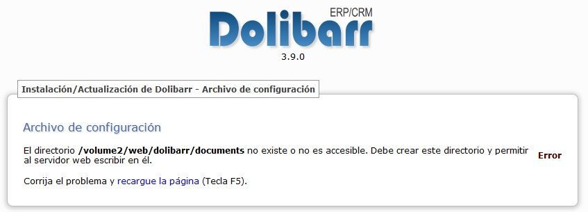 Synology Instalación de Dolibarr 09