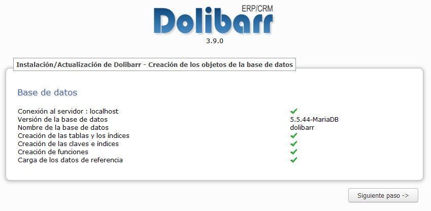 Synology Instalación de Dolibarr 12