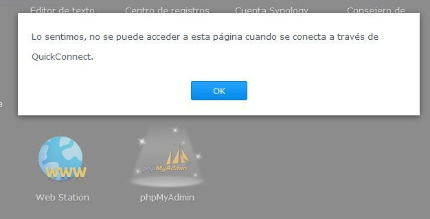 Synology Servidor Web 07 Error QuickConnect