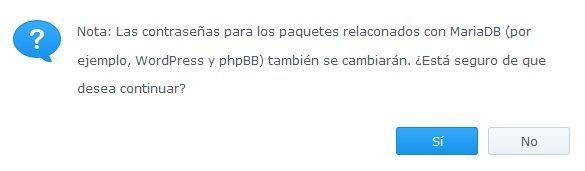 Synology Servidor Web 20 MariaDB