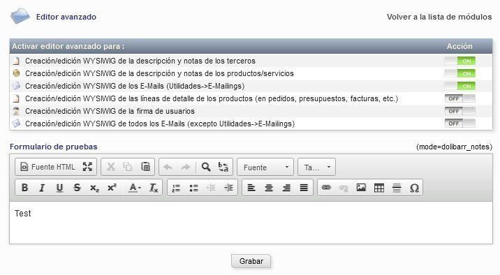 Dolibarr – En algunos PCs no se muestra el editor CKEditor