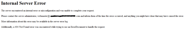 Prestashop error Internal Server Error al hacer el pago de un pedido