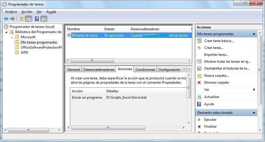 Tarea programada en Win7 para configurar tu conexión de red