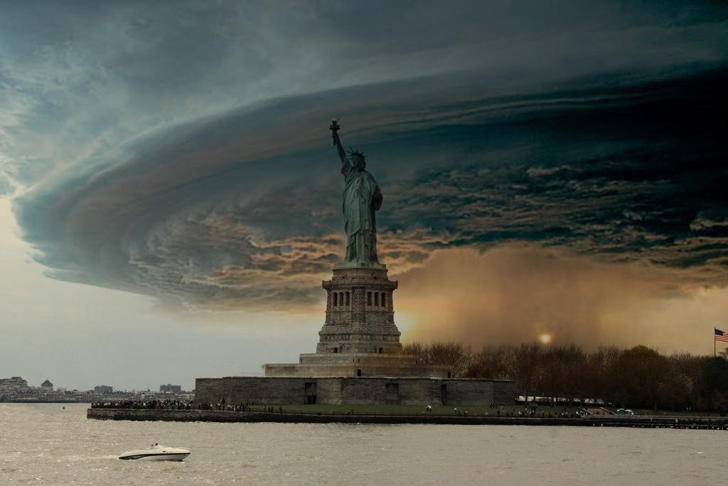 Imagen falsa del huracán Sandy llegando a Manhattan
