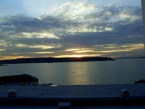 Puesta de sol en el Puget Sound