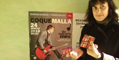 Ya tenemos entradas para el concierto de Coque Malla del 24 de marzo de 2010
