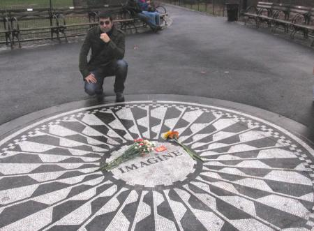 Nosotros en Strawberry Fields (Central Park, Nueva York) en año nuevo de 2008
