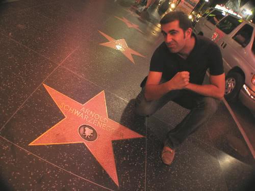 Hollywood Boulevard y sus estrellicas y el glamour y todo eso...