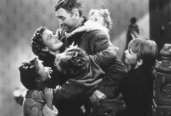 """Geoge Bailey y su familia. """"Qué Bello Es Vivir"""" (""""It's A Wonderful Life"""", 1946)"""