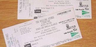 Nuestras entradas para el concierto de los Rolling Stones en Valladolid (2006)