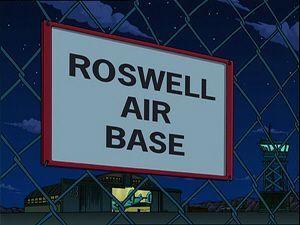 "El incidente de Roswell según la serie ""Futurama"""