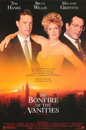 """""""La Hoguera de las Vanidades"""" (""""The Bonfire of the Vanities""""). Cartel original de la película"""