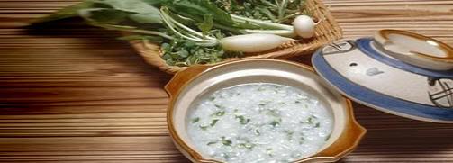 La sopa japonesa de las siete hierbas (七草粥, nanakusagayu)