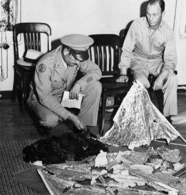 Incidente de Roswell (Nuevo México). Fotos de prensa. Año 1947