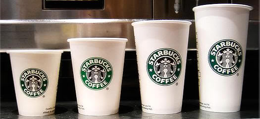 Tamaños de los vasos de Starbucks