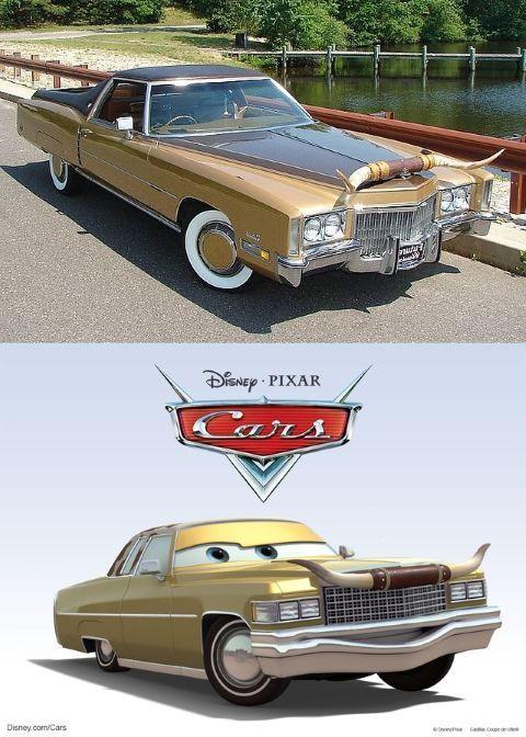 Tex es en realidad un CadillacCoupe De Ville de 1975