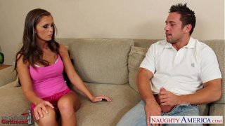Hot girlfriend Whitney Westgate gets facialized