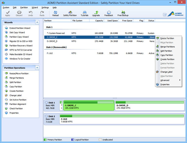 Download AOMEI Partition Assistant