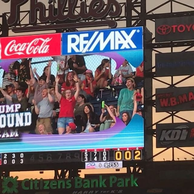 Phillies fan on Jump Around Cam for 3 minutes. To see the full 3 mins visit your fave site jawnville.com #philly #jawn