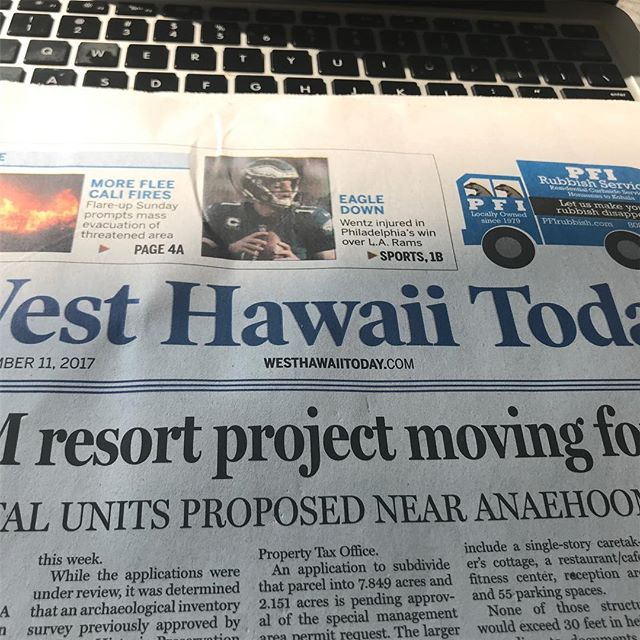 Wentz injury even front page news in Hawaii #eagles #jawnville