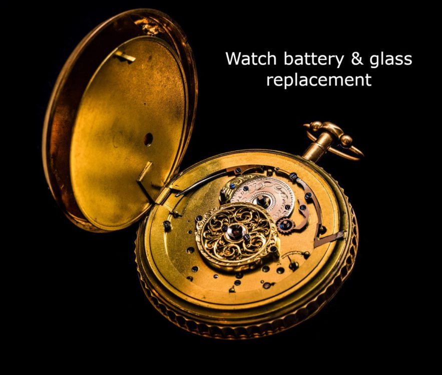 an image of a watch advertising battery replacement
