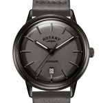 Rotary Black Avenger Gents Quartz