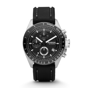 Decker Chronograph Black Silicone Watch