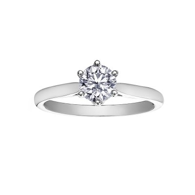 18ct White Gold Diamond Ring – Maple Leaf Diamonds