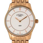 Rotary Ultra Slim Rose Gold Plated Ladies Watch