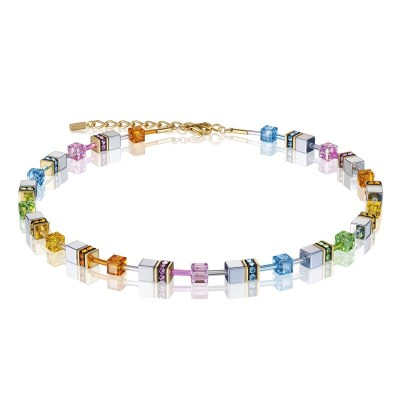 Coeur De Lion Geocube® Necklace – Multicolour Pastel