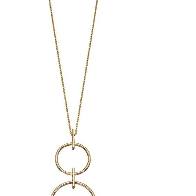 18ct Yellow Gold Double Circle Necklace