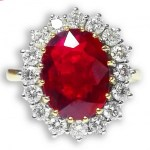 Fabulous Ruby & Diamond Cluster Ring