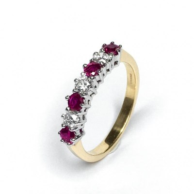 18ct Yellow Gold Ruby & Diamond Ring