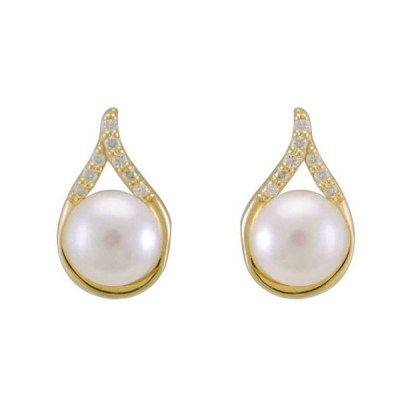 9ct Yellow Gold Fresh Water Pearl Earrings