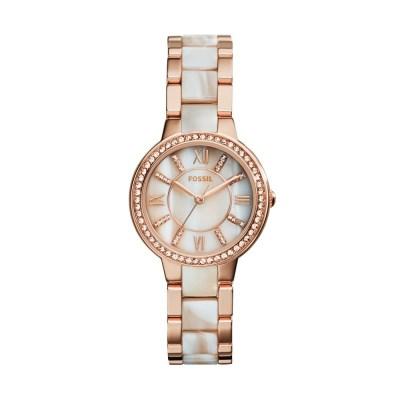 Virginia Rose-Tone & Horn Acetate Stainless Steel Watch