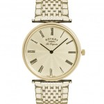 Rotary Gents Gold Plated Bracelet Watch