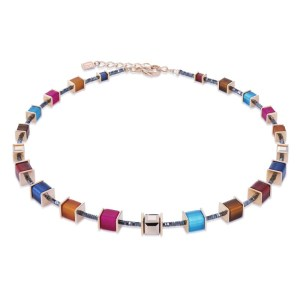 Image of coeur de lion necklace geocube® swarovski® crystals & polaris -winter multicoloured