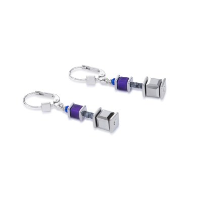 Coeur De Lion Geocube® Swarovski® Crystals & Polaris Purple-Blue