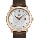 Rotary Mens Rose Gold Plated Timepiece Watch