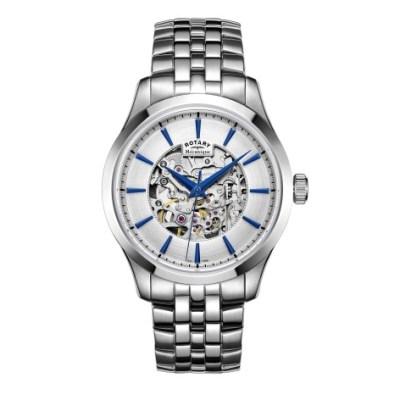 Mecanique Skeleton Stainless Steel Bracelet Watch