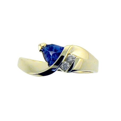 9ct Yellow Gold Tanzanite & Diamond Ring