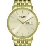 Rotary Gents Gold Pvd Stainless Steel Bracelet Watch
