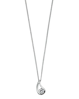 An image of SILVER CUBIC ZIRCONIA CHECKERBOARD PENDANT