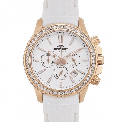 Rotary Summer Rose Ladies' Aquaspeed Rose Tone Chronograph Watch