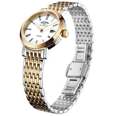 Rotary Windsor Ladies Two Tone Rose Swiss Watch