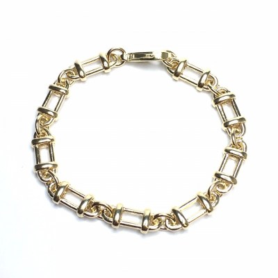 Unique Handmade 9ct Yellow Gold Bracelet