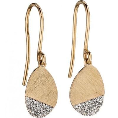 9ct Yellow Gold & Diamond Earrings