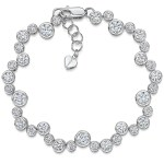 Rubover Cubic Zirconia Tennis Bracelet, Silver