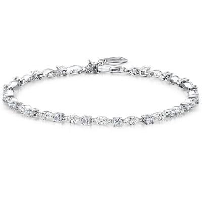 Cubic Zirconia Tennis Bracelet, Silver
