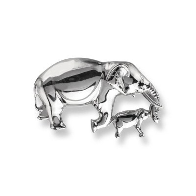 Nicole Barr Sterling Silver Elephant Brooch